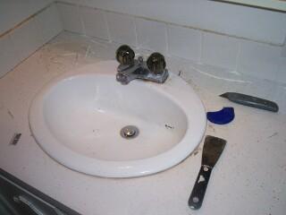 How to re-caulk a bathroom vanity